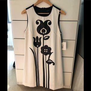 Victoria Beckham Black and White Sleeveless Dress
